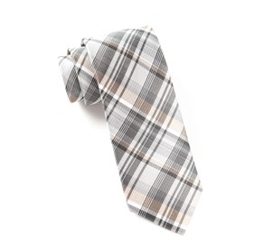 Band Of Plaid Titanium Ties