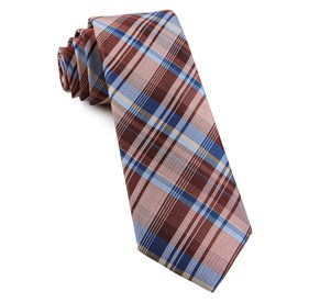Marsala Band Of Plaid ties