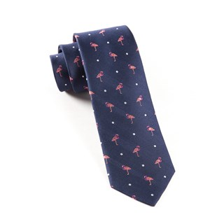 pink flamingo navy ties