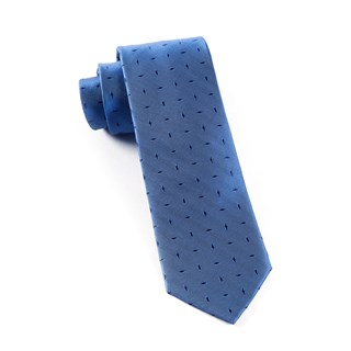 industry solid denim blue ties
