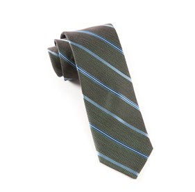 Dark Green Editor Stripe ties