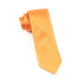 Orange Grosgrain Solid ties