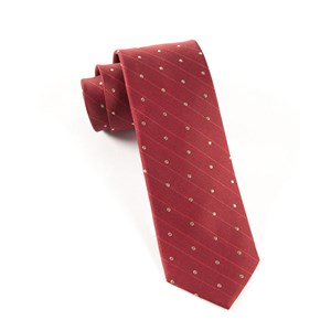 ringside dots burgundy ties