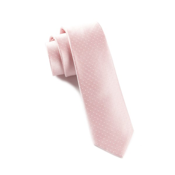 Blush Pink Mini Dots Tie
