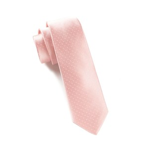 mini dots light pink ties