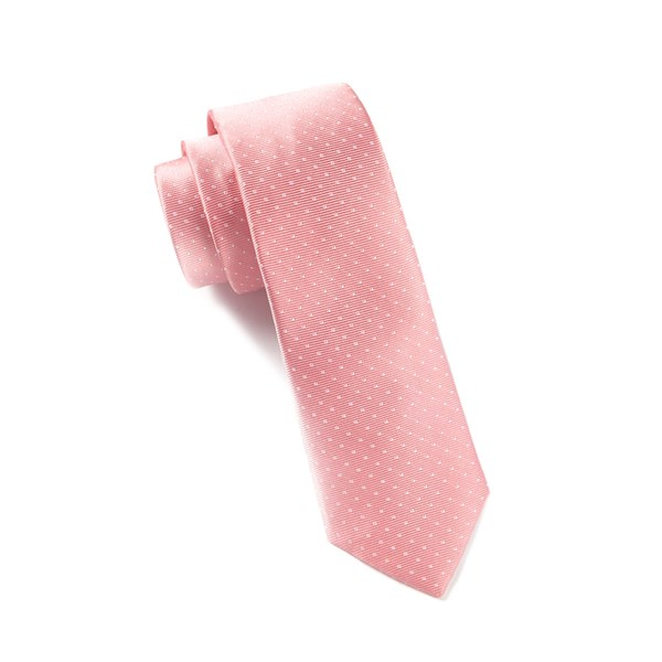 Salmon Pink Mini Dots Tie