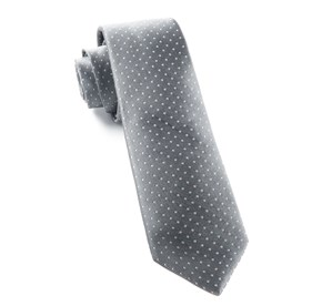Grey Mini Dots ties