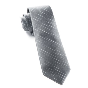 mini dots grey ties