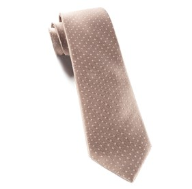 Champagne Mini Dots boys ties