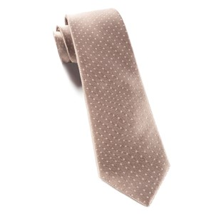 mini dots champagne ties