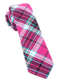 Ties - Vice Plaid - Fuchsia