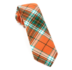Orange Vice Plaid ties