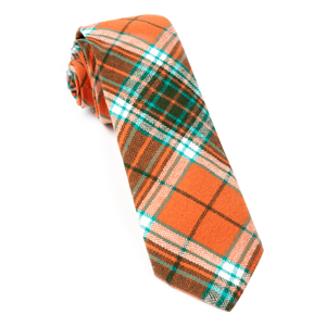 vice plaid orange ties