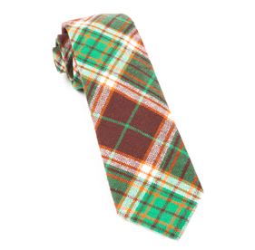 Chocolate Brown Vice Plaid ties