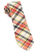 Ties - Hawthorne Plaid - Orange