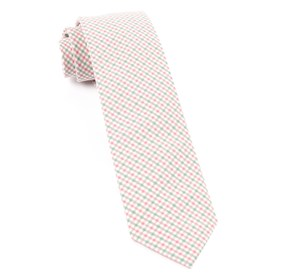 Gulf Shore Gingham Pink Ties