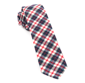 Navy Dunglass Plaid ties