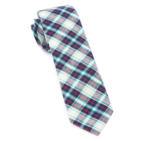 Turquoise Central Park Plaid ties
