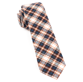 Brown Central Park Plaid ties