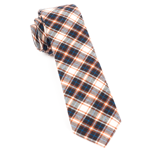 central park plaid brown ties
