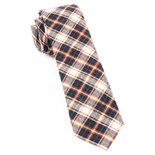Central Park Plaid Brown Tie