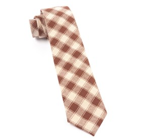 Chocolate Brown Port Street Checks ties