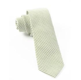 Jackson Stripe Clover Green Ties