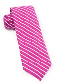 Ties - Montgomery Stripe - Raspberry