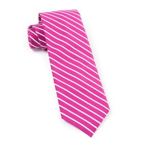Montgomery Stripe Raspberry Ties