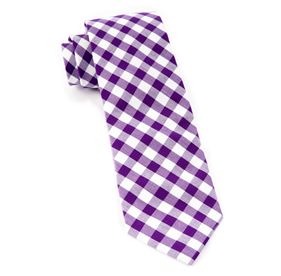 Purple Classic Gingham ties