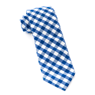 classic gingham royal blue ties