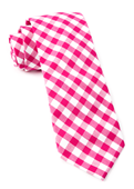 Ties - Classic Gingham - Hot Pink