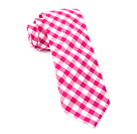 Hot Pink Classic Gingham ties