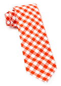 Ties - Classic Gingham - Orange