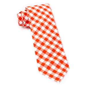 classic gingham orange ties