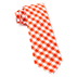 Orange Classic Gingham Tie - Orange Classic Gingham Tie primary image