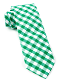 Ties - Classic Gingham - Kelly Green