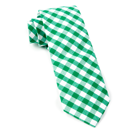 Kelly Green Classic Gingham ties
