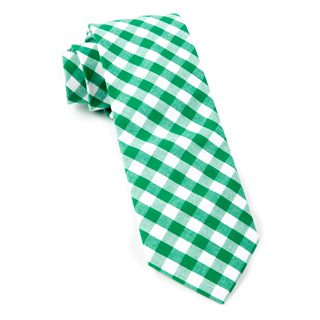 Classic Gingham Kelly Green Tie