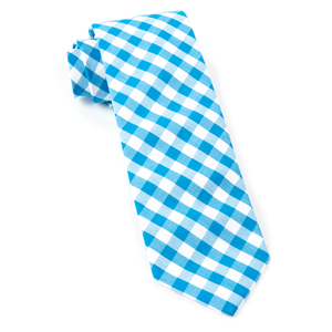 classic gingham turquoise ties