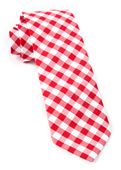 Ties - Classic Gingham - Red