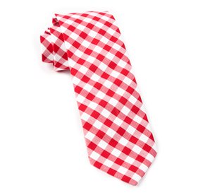 Red Classic Gingham ties