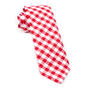 classic gingham red ties