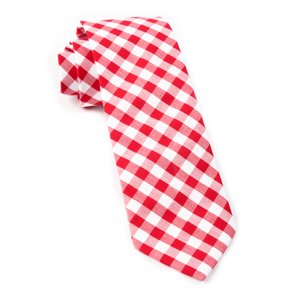 Red Classic Gingham Tie