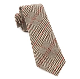 Brown Central Glen Plaid ties