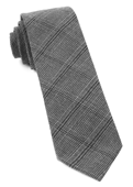 Ties - Central Glen Plaid - Charcoal