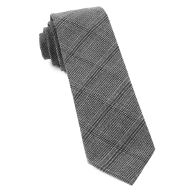Charcoal Central Glen Plaid ties