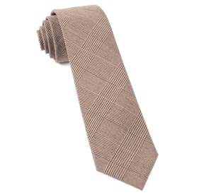 Brown Cotton Glen Plaid ties