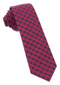 Ties - Gingham Shade - Apple Red