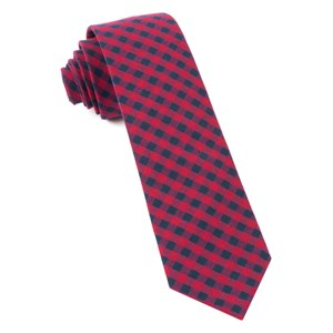 gingham shade apple red ties